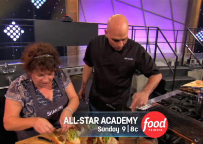 Sharon with Michael Symon on All Star Academy